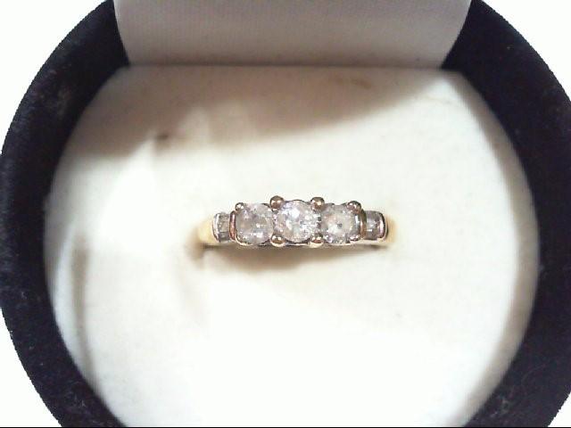 Lady's Gold-Diamond Anniversary Ring 7 Diamonds .50 Carat T.W. 10K Yellow Gold