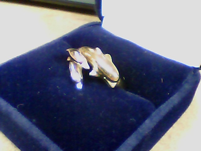 Lady's Gold Ring 10K Tri-color Gold 3.6g