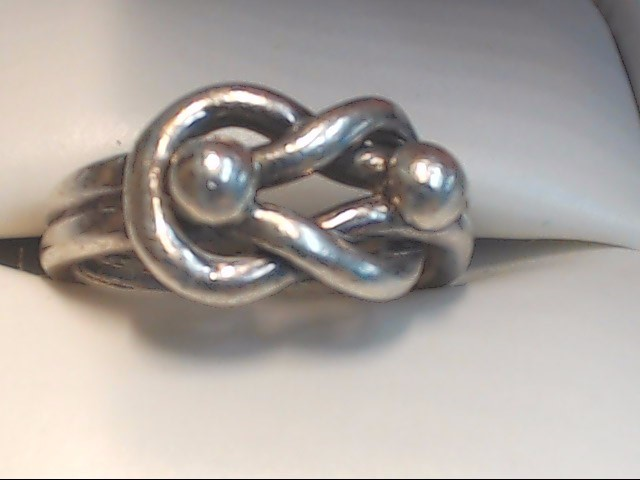 Lady's Silver Ring 925 Silver 5.3g Size:5.5