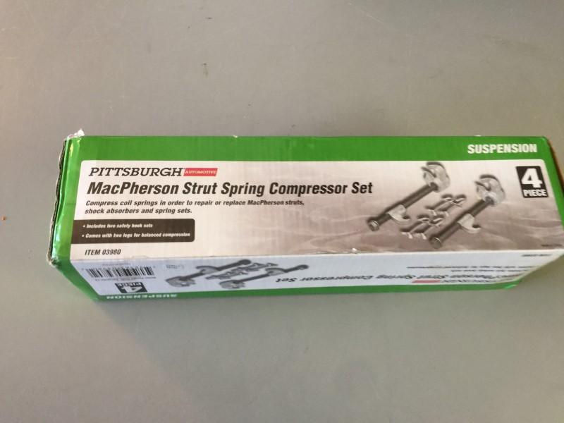 PITTSBURGH 03980 4PC MACPHERSON STRUT SPRING COMPRESSOR SET