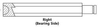 CUSTOM CHROME 15013, #37089-84;  CLUTCH PUSHROD-RIGHT END LATE 84-89