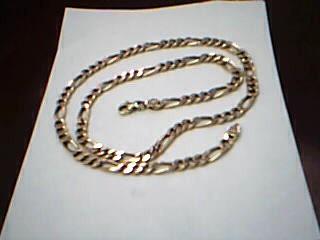 """20"""" Gold Figaro Chain 10K Yellow Gold 12.9g"""