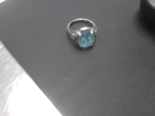Blue Stone Lady's Silver & Stone Ring 925 Silver 5.1g