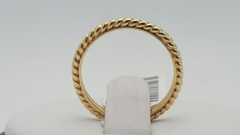 Lady's Gold Ring 14K Yellow Gold 2.3g Size:6