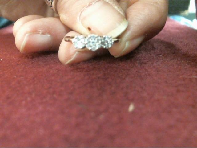 Lady's Diamond Cluster Ring 21 Diamonds .168 Carat T.W. 14K White Gold 1.7dwt