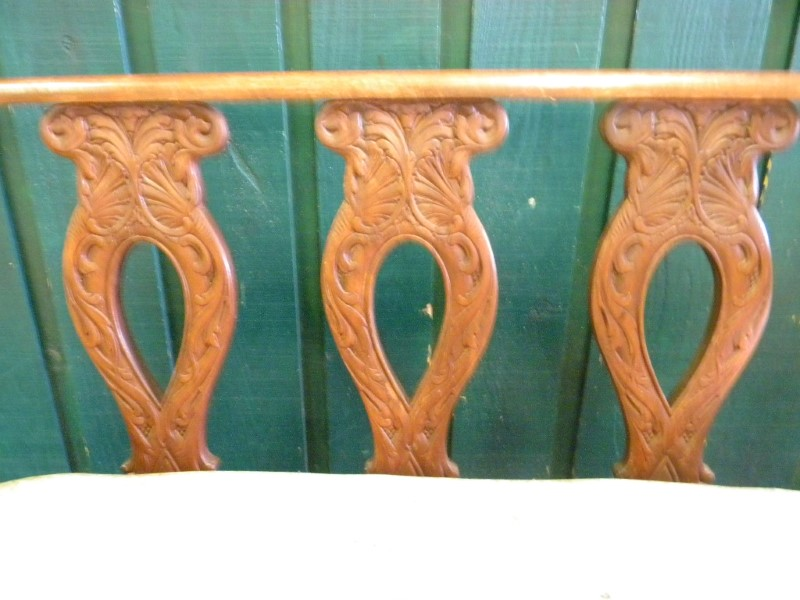 ANTIQUE SOLID WOOD SETTEE