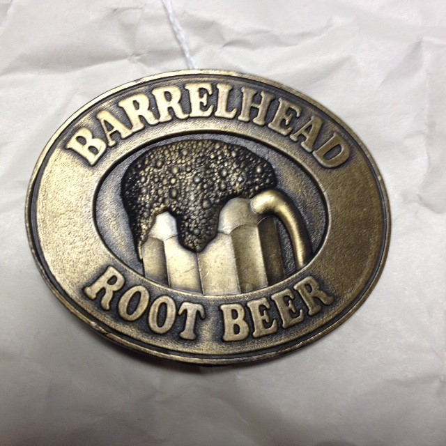 BARRELHEAD ROOT BEER BELT BUCKLE