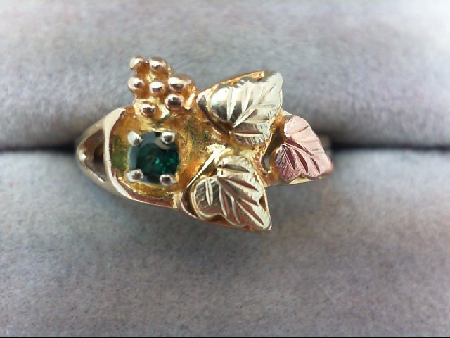 Lady's Gold Ring 10K Tri-color Gold 3.2g