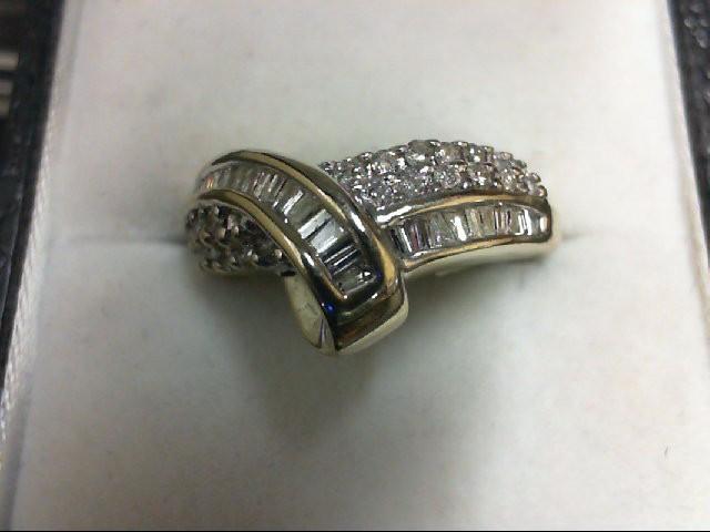 Lady's Diamond Cluster Ring 50 Diamonds 0.5 Carat T.W. 14K Yellow Gold 4.6g