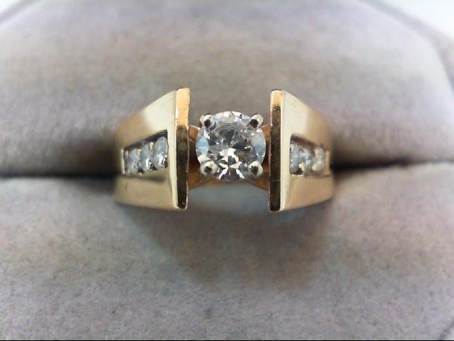 Lady's Diamond Engagement Ring 7 Diamonds .53 Carat T.W. 14K Yellow Gold 4g