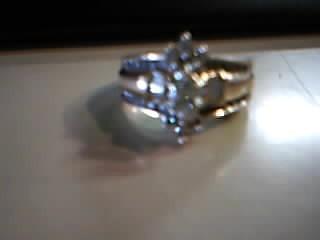 Lady's Diamond Wedding Set 37 Diamonds 1.09 Carat T.W. 14K Yellow Gold 6.3g
