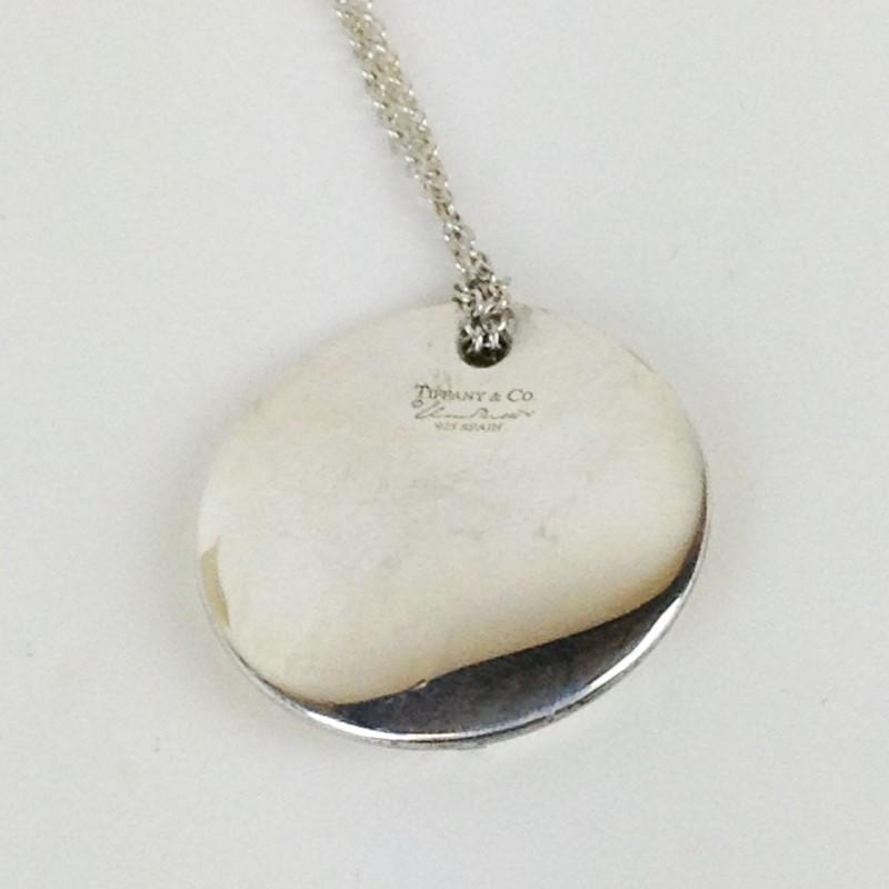 Tiffany & Co Sterling Silver Peretti Bean Pendant w Chain 11.9g