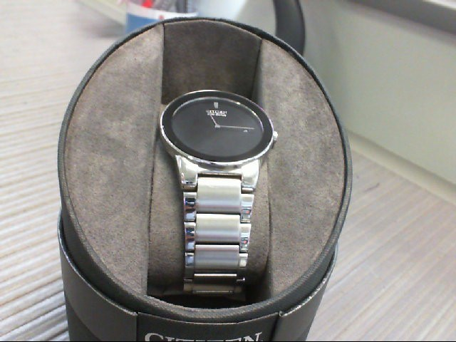 CITIZEN Gent's Wristwatch ECO-DRIVE stainless and Black Face