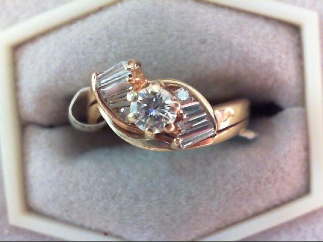 Lady's Diamond Wedding Set 9 Diamonds .38 Carat T.W. 14K Yellow Gold 3.1g