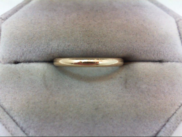 Lady's Gold Wedding Band 10K Yellow Gold 1.7g