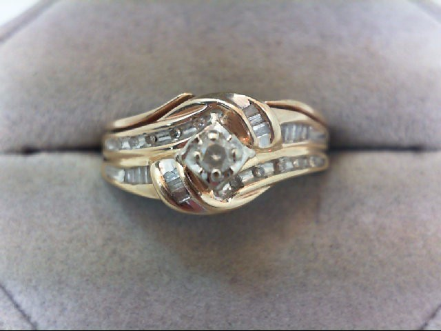 Lady's Diamond Wedding Set 27 Diamonds .32 Carat T.W. 10K Yellow Gold 4.1g