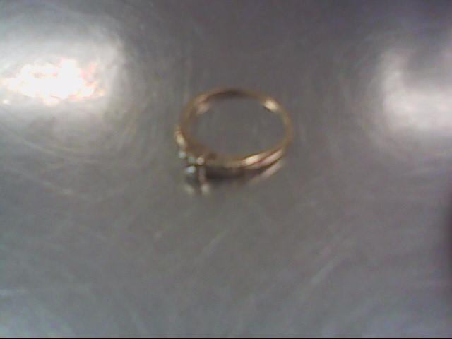 Lady's Diamond Engagement Ring 3 Diamonds .19 Carat T.W. 14K Yellow Gold 1.2g