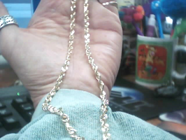 "22"" Gold Rope Chain 14K Yellow Gold 16.3dwt"