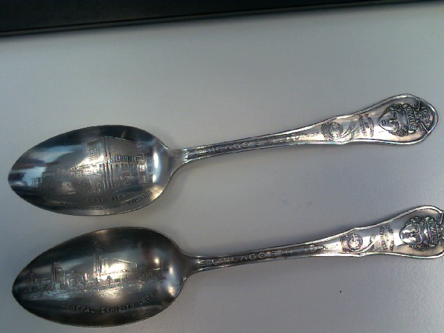 WM RODGERS Collectible Plate/Figurine 1933 WORLDS FAIR SPOON SET