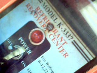 REFRIGERANT RCOVERY CENTER