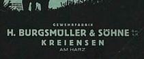 H BURGSMULLER & SOHNE