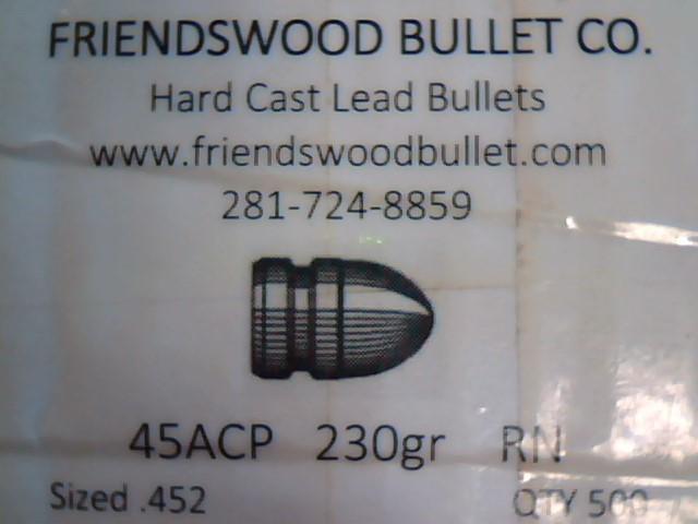 FRIENDSWOOD BULLET