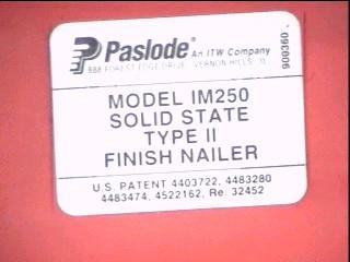 PASLODE Nailer/Stapler IM250