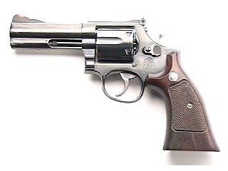 "SMITH & WESSON 586-3 4"" NICKEL"