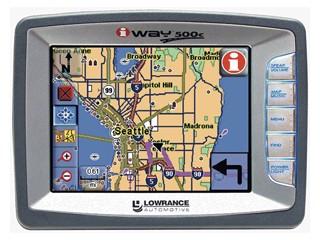 LOWRANCE GPS System IWAY 500C