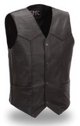 FIRST MFG FMM601BM-REG, TRADITIONAL 4 SNAP VEST - MEDIUM