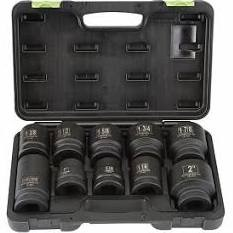 "PITTSBURGH AUTOMOTIVE Sockets/Ratchet 10 PC 1"" DRIVE SOCKET SET"