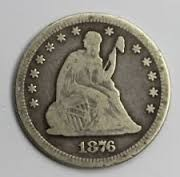 UNITED STATES Silver Coin 1876 QUARTER DOLLAR