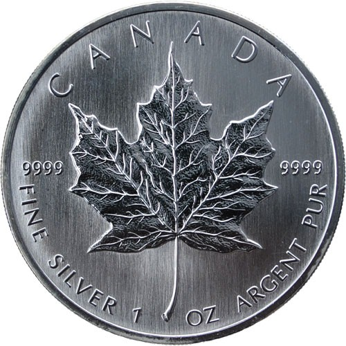 CANADA Silver Coin $5.00 - MAPLE LEAF SILVER 1 TROY OZ. .999