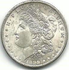 UNITED STATES Silver Coin 1899-O MORGAN