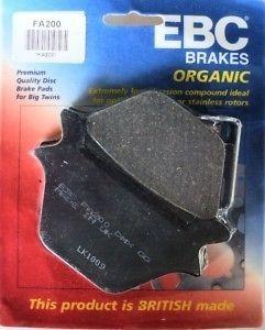EBC BRAKES FA200 REAR BRAKE PADS