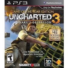 Sony PlayStation 3 Game GAME OF THE YEAR EDITION UNCHARTED 3 DRAKE'S DECEPTION