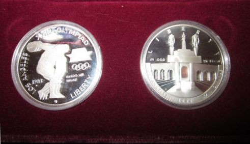 UNITED STATES Proof Set 1983/1984 OLYMPIC COIN SET