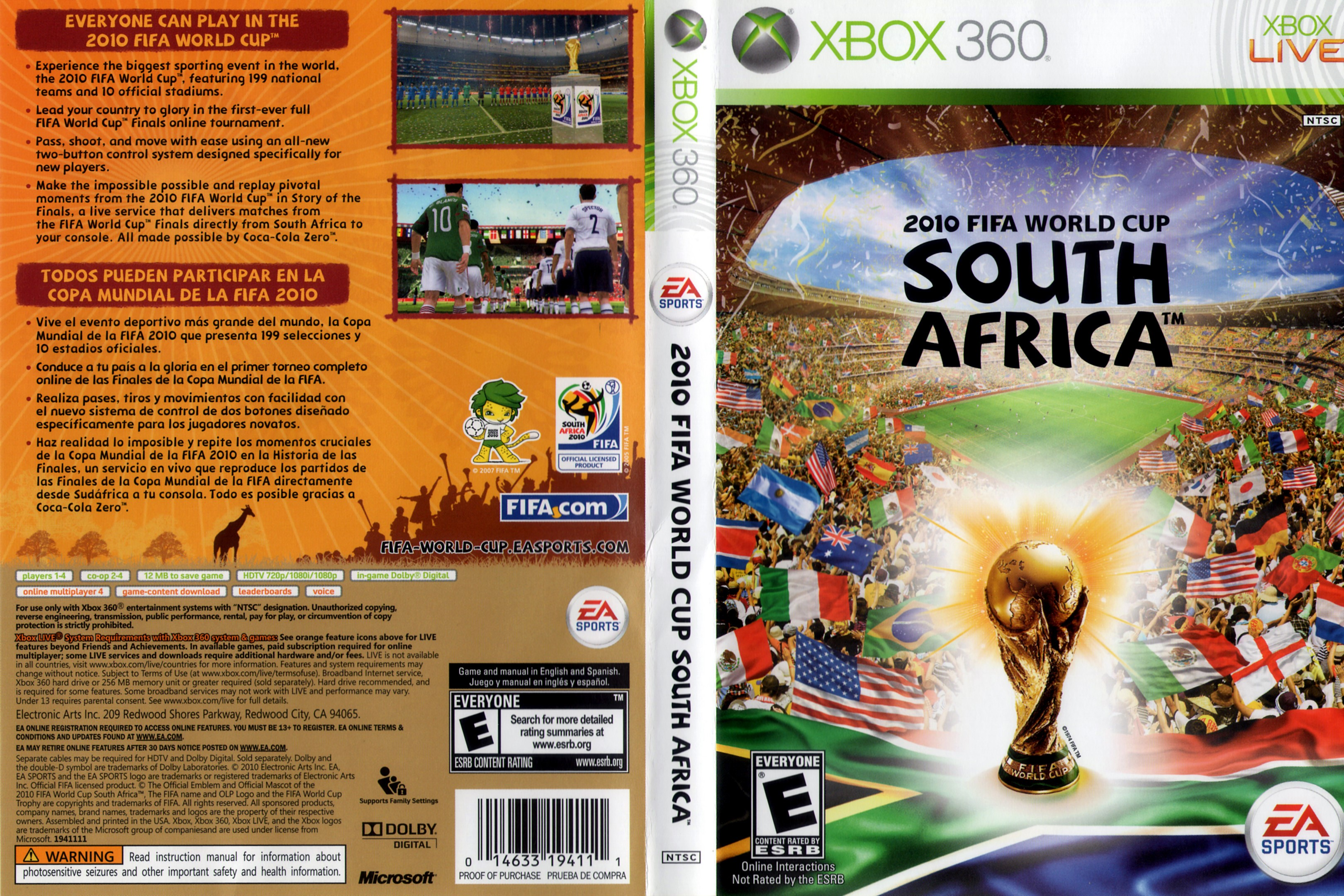 MICROSOFT Microsoft XBOX 360 Game 2010 FIFA WORLD CUP SOUTH AFRICA