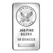 SUNSHINE MINT Silver Bullion 10 OUNCE SILVER BULLION