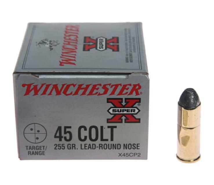 WINCHESTER Ammunition 45 COLT 255 GR LEAD X45CP2