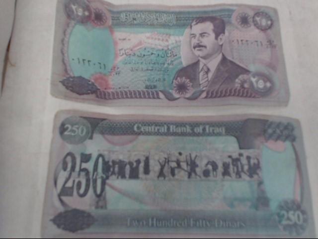 IRAQ 250 DINARS BILL
