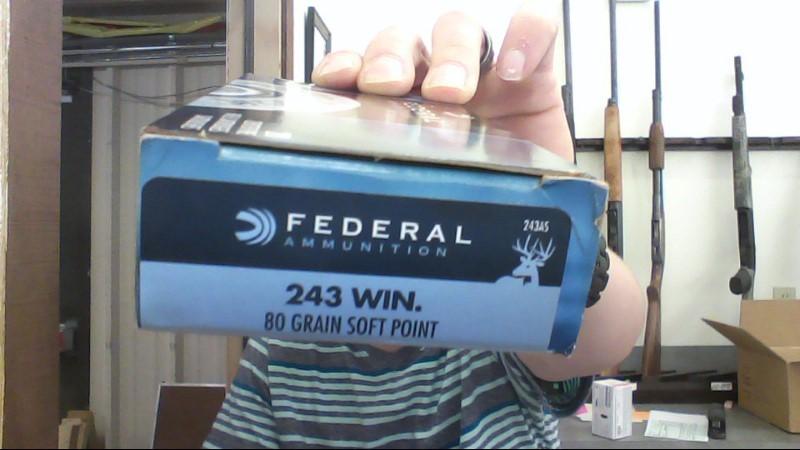 FEDERAL AMMUNITION Ammunition 243 WIN 80GR
