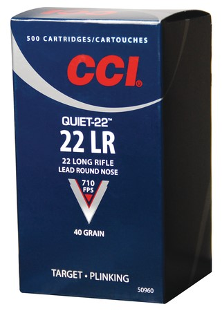 CCI AMMO Ammunition 22LR QUIET-22