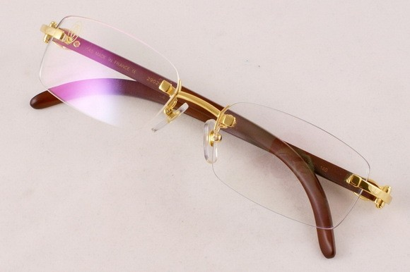 Wood Frame For Glasses : CARTIER 140B WOOD FRAME GLASSES Buya