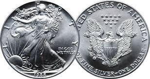 UNITED STATES Silver Coin 1988 1OZ SILVER EAGLE