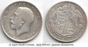 United Kingdom King George V 1912 Half Crown Coin