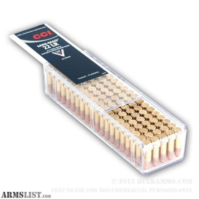 CCI AMMO Ammunition 22LR 40 GR 100 RDS