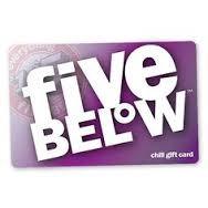 $75 FIVEBELOW GIFT CARD