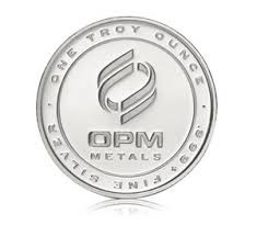 OPM METALS Silver Coin ONE TROY OUNCE