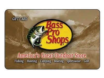 $25.00 Bass Pro Shops Gift Card